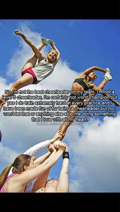 Totally me with baton. I don't do cheer but this is a similar situation!!
