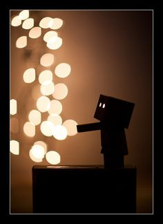 """Danbo is curious of the lights in the room. """"Can I touch them? It feels as if it's raining balls of soft light"""""""
