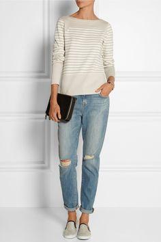MiH Jeans The Breton Saddle striped cotton top NET-A-PORTER.COM