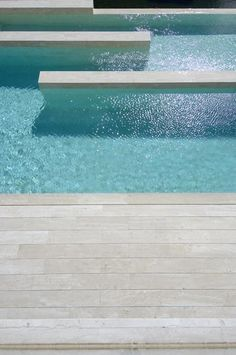 Private House Pool in Spain by A-Cero _ Cabana, Outdoor Pool, Outdoor Spaces, Moderne Pools, Water Architecture, Pool Fountain, Design Jardin, Garden Pool, Backyard Pools