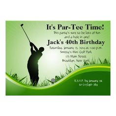 Man Golf Birthday Invitation 50th Party Themes60th