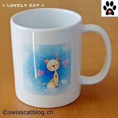 mug artinco lovely cat