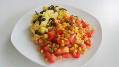 Abends wurden die Spaghetti ausgeschlagen und lieber Kartoffelpüree mit Bohnensalat bei Natja angerichtet.