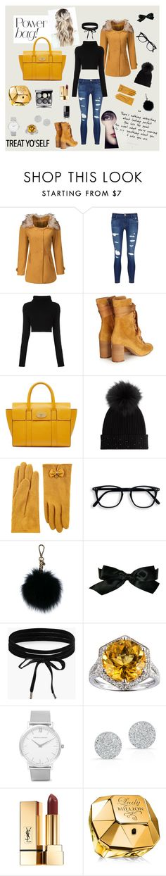 """Mulberry"" by suljic-melika ❤ liked on Polyvore featuring WithChic, J Brand, Valentino, Chloé, Mulberry, M. Miller, Accessorize, MICHAEL Michael Kors, Chanel and Boohoo"