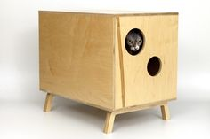 Modernist Cat: mid- century modern litterbox cabinet. Makes me almost want to get a cat. Almost.
