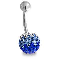 Bling Jewelry Sky Blue Ball Charm Body Jewelry ($13) ❤ liked on Polyvore featuring jewelry, body jewelry, belly rings, piercings, blue, body-piercing-rings, blue jewelry, belly rings jewelry, blue charm and blue steel jewelry