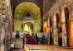 The 11th century Pieve di Santa Maria Assunta in San Leo, Italy
