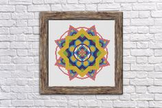 Mandala Cross stitch patterns  Downloadable PDF by StitchLandShop