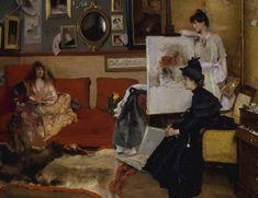 Alfred Stevens was one of Belgium's leading artists who specialized in paintings of fashionable young women in elegant interiors. As a young boy, Alfred Stevens - was surrounded by art: his father was Alfred Stevens, Painting Gallery, Painting Prints, Art Prints, Oil Paintings, Metropolitan Museum, Städel Museum, Artists And Models, European Paintings
