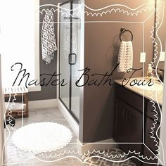 The Unique Nest: Master Bath Wall Art {& Tour)