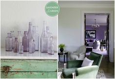 Interiors Lavender and Green