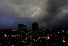 Downtown Ft.Worth on 5/15/2013...storms, tornadoes, Tx. Springtime fun!
