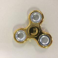 Hand Spinner metaal crome goud