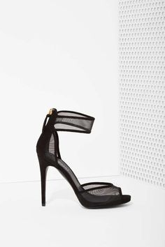 Shoe Cult Devan Mesh Heel | Shop Heels at Nasty Gal £36