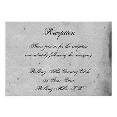 Gothic Wedding Reception Blue Gothic Owl Posh Wedding Reception Card