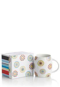 Striped Flower Boxed Mug
