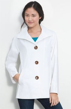 Cute jacket for spring/summer and even into fall! Ellen Tracy Wing Collar Coat   Nordstrom 118.