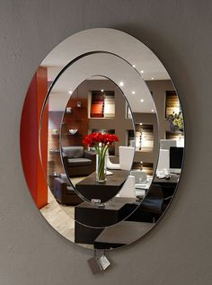 8 Unbelievable Cool Ideas: Wall Mirror Restaurant Ideas large wall mirror with lights.Wall Mirror With Shelf Shelves. Lighted Wall Mirror, Rustic Wall Mirrors, Cool Mirrors, Mirror Mirror, Mirror Collage, Framed Wall, Modern Mirror Design, Wall Mirror Design, Modern Interior Design