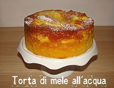 Torta di mele all'acqua!