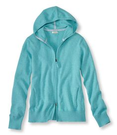 Cotton/Cashmere Hooded Cardigan: Cardigans | Free Shipping at L.L.Bean