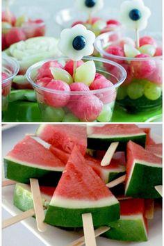 Melancia no palito para festas - ideias e inspirações no blog Watermelon, Fruit, Instagram, Cake, Cocktail Recipes, Fruit Tables, Fruit Sticks, Food