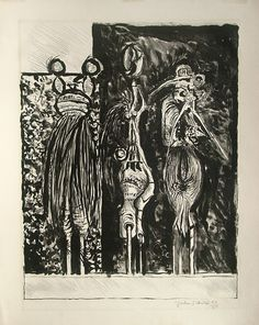 Graham Sutherland, Three Standing Forms in Black English Artists, Modern Artists, Source Of Inspiration, Fine Art Photography, Graham, Tapestry, Abstract, Drawings, British