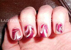 water marble nails. LadyAlayna.tumblr.com / Alayna Josz