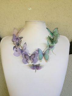 Aurora  Handmade Silk Organza Butterflies by TheButterfliesShop