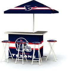 Houston Texans Portable Tailgate Bar Set $499.99 http://www.fansedge.com/Houston-Texans-Portable-Tailgate-Bar-Set-_-1661304015_PD.html?social=pinterest_pfid23-32071