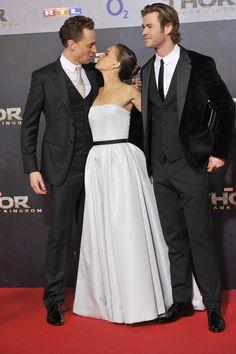 torrilla:  Tom Hiddleston, Chris Hemsworth and Natalie Portman attend THOR: The Dark Kingdom Germany premiere at CineStar on October 27, 2013 in Berlin, Germany [HQ]