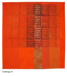 nancy crow- love the orange & textures