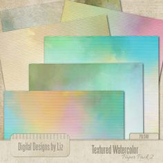 Textured Watercolor Paper Pack 2