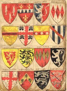 england-heraldry-sixteen-shields-roll-arms-english-knights-barons-edward-3-1910-115254-p.jpg 446×600 pixels