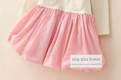 00068 TJ-6J2517 Free shipping 6 pcs/lot Wholesale Kids new Autumn color pocket stitching dress lantern dress for girls http://www.aliexpress.com/store/1047972