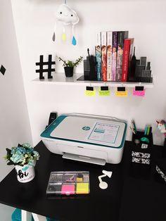 Home Office Feminino  Escrivaninha Tumblr U003c3 #decoração #quartodemenina  #decoration #homeoffice