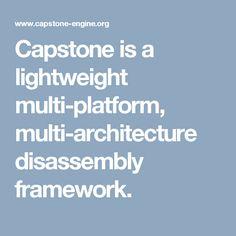 Capstone is a lightweight multi-platform, multi-architecture disassembly framework. Software, Engineering, Platform, Coding, Architecture, Arquitetura, Mechanical Engineering, Technology, Architecture Design