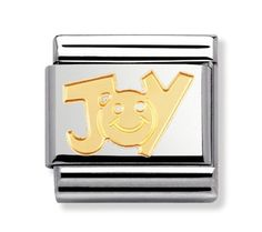 Check out the deal on Nomination JOY (writing) Classic Gold Italian Charm at Precious Accents, Ltd. Nomination Charms, Nomination Bracelet, Classic Gold, Gems, Charmed, Joy, Jewels, Writing, Create