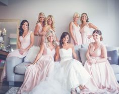 Beauties. #bridesmaids #weddinginspo #sweetweddings #pinkbridesmaiddresses #weddingstyle #beforethewedding #thishappened #prettybride #prettyinpink