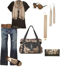Cute Browns and Leopard love me some leopard