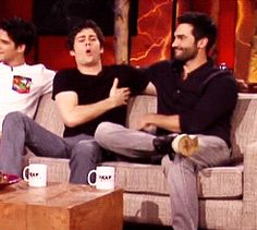 OMG this is just the cutest thing ever!! These two are just awesome!!!!!!!! Tyler H tickling Dylan <3<3<3 Tumblr Sterek