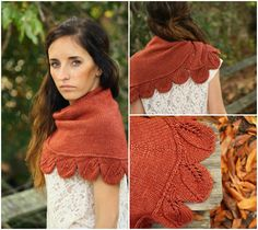 Wrapped in Leaves-- This pattern is part of my new design book, Botanical Knits, due out February 2013.