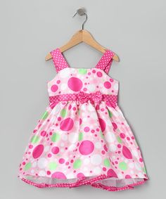 Take a look at this Pink & Green Bow Hello Gorgeous Dress - Toddler & Girls by Longstreet on #zulily today!