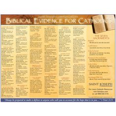 Biblical Evidence for Catholics https://saintjoe.com/products/biblical-evidence-for-catholics