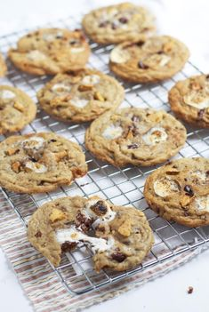 Chewy Smores Cookies via The Baker Chick