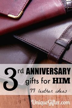 3rd Anniversary Gifts for Him - 99 Leather Gifts to Inspire You