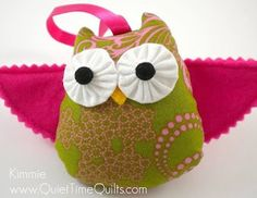 Felt Owl  Kimmie by quiettimequiltsdc on Etsy, $20.00