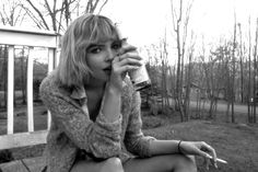 Black and White Britany Nola Women Shooting Guns, Coffee And Cigarettes, How To Make Beer, Simple Pleasures, Drinking, Beautiful Women, Black And White, Couple Photos, Ava