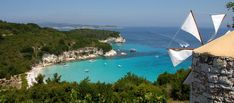 Idyllic Greek Isles That Most Tourists Miss! Paxos Island, Greek Isles, Planet Earth, Airplane View, Greece, Around The Worlds, River, Building, Beach