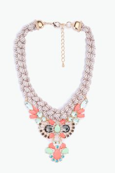 Rope statement necklace // ornate #jewelry_design