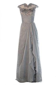 Ellames Women's Long Chiffon Mother of the Bride Evening Gowns Cap Sleeves Grey US 12 Ellames http://www.amazon.com/dp/B013FZUW8Q/ref=cm_sw_r_pi_dp_T8vZvb1MRQTJH